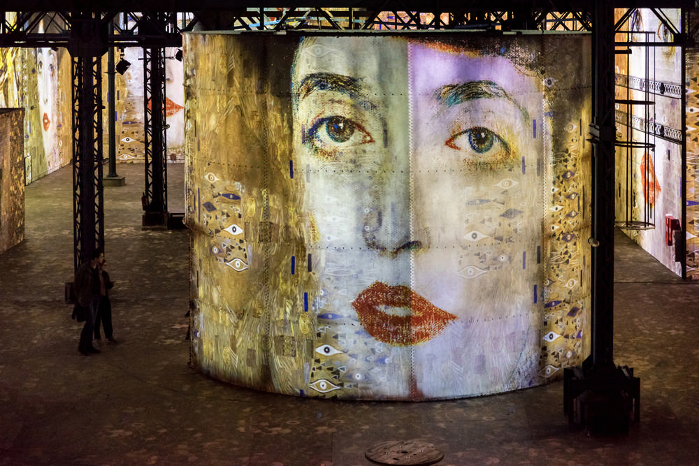 Atelier des Lumières/巴黎/法國/數位藝術館/藝廊/克林姆畫作
