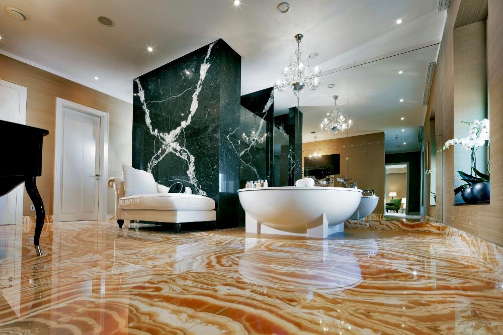 多瑙河畔/Kempinski Hotel River Park/暖色系陳設及奢華設備