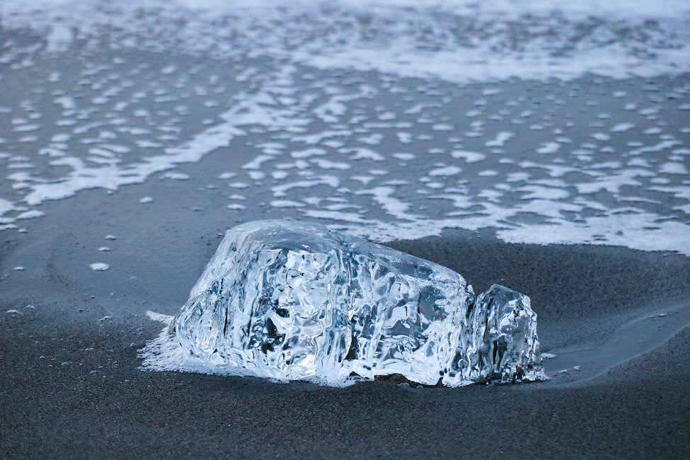 十勝大津海岸的鑽石冰