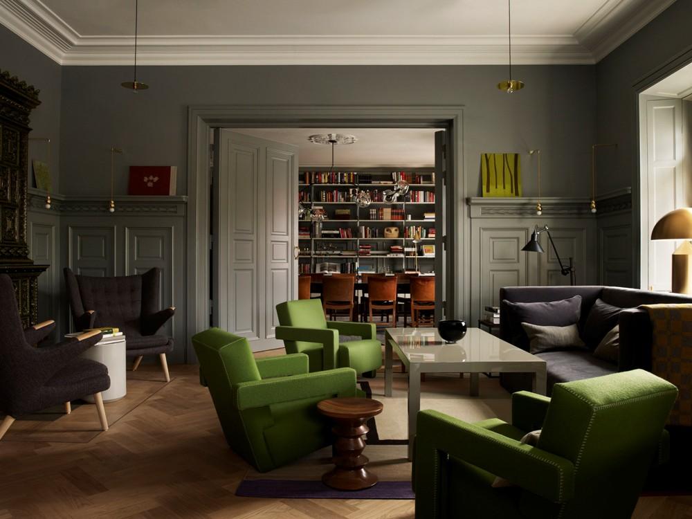 客房內部/新舊融合建築風格/Ett Hem/斯德哥爾摩/瑞典