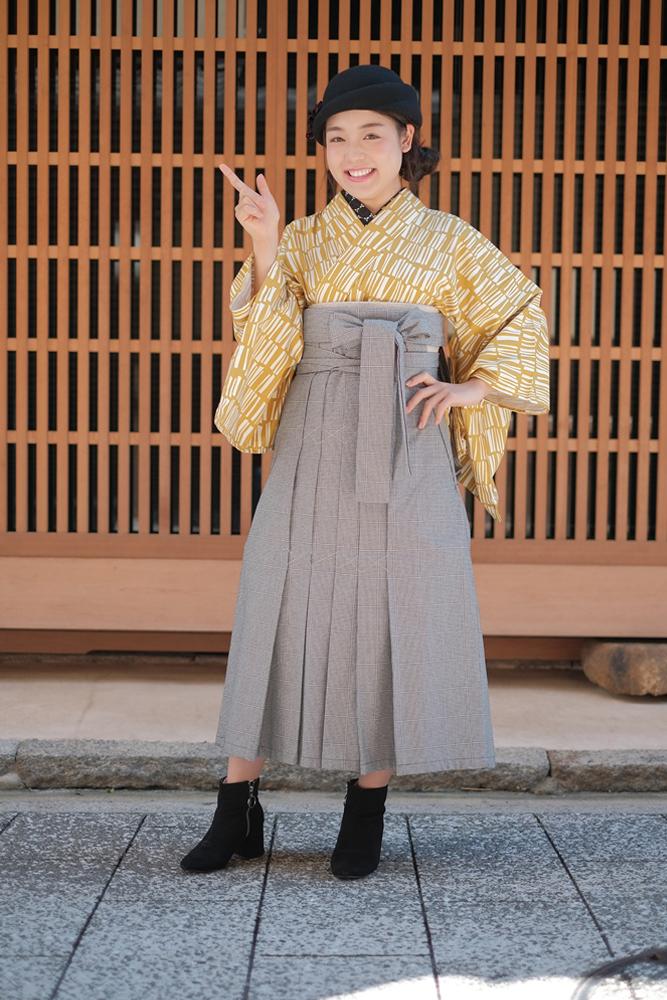 千鳥格/袴/ミミズクヤ/Mimizukuya/京都/和服/買和服/下京區新釜座町